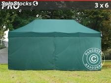 Tenda Dobrável FleXtents PRO 3x6m verde, incl. 6 paredes laterais