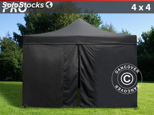 Tenda Dobrável FleXtents PRO 4x4m Preto, incl. 4 paredes laterais