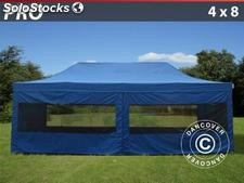 Tenda Dobrável FleXtents PRO 4x8m Azul, incl. 6 paredes laterais