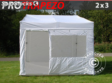 Tenda Dobrável FleXtents PRO Trapezo 2x3m Branco, incl. 4 paredes laterais