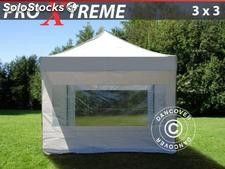 Tenda Dobrável FleXtents Xtreme 3x3m Branco, incl. 4 paredes laterais