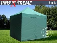 Tenda Dobrável FleXtents Xtreme 3x3m verde, incl. 4 paredes laterais