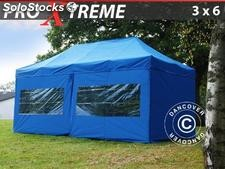 Tenda Dobrável FleXtents Xtreme 3x6m Azul, incl. 6 paredes laterais