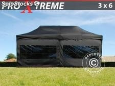 Tenda Dobrável FleXtents Xtreme 3x6m preto, incl. 6 paredes laterais