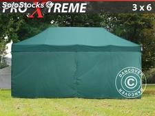 Tenda Dobrável FleXtents Xtreme 3x6m verde, incl. 6 paredes laterais