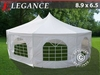 Tendone Gazebo decagonale 8,9 x 6,5 m