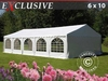 Tendone per feste Exclusive 6x10m PVC, Bianco