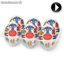 Tenga egg dance easy ona-CAP by keith haring pack 6 ud