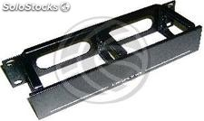 """TENRack RackMatic Management Panel Cables 10\"""" of 3 rings with lid (TR22)"""