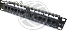 "TENRack RackMatic Patch Panel 10"" 12 portas RJ45 utp Cat.5e 1U (TR32)"
