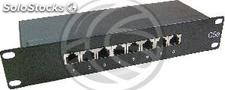 "TENRack RackMatic Patch Panel 10"" de 8 portas RJ45 1U ftp Cat.5e (TR71)"
