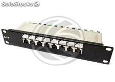 TENRack RackMatic Patch Panel 10 inch 8-Port RJ45 ftp Cat.6 1U (TR73-0002)