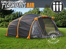 Tente de camping FlashTents® Air, 3 personnes, orange/gris foncé