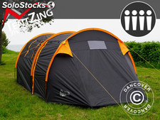Tente de camping, TentZing® Tunnel, 4 personnes, orange/gris foncé