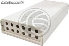 Terminal box beige plastic optical fiber 12 ST (FQ42)