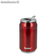Termo forma lata cool can metaltex 330 ml