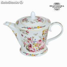 Tetera porcelana bloom white - Colección Kitchen's Deco by Bravissima Kitchen