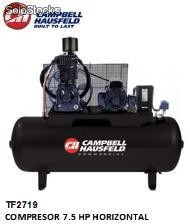 Tf2719 compresor 7.5 hp horizontal campbell (Disponible solo para Colombia)