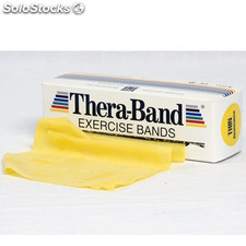 Thera Band 5.5 metros: Cintas de Látex de Resistencia Suave - Color Amarillo
