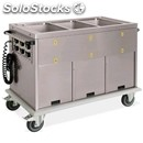Thermal cupboard trolley - mod. 737a01234 - grade aisi 304 stainless steel