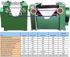 Three roll mill for high viscosity material