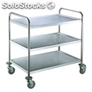 Three-shelf catering trolley - mod. rpc 3 - stainless steel structure and