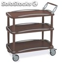 Three-shelf trolley - mod. 6052 - solid wood structure - n. 3 plywood shelves -