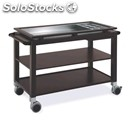 Three-shelf trolley with tray and bottle holders on top shelf - mod. 65-10534 -