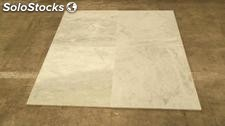 Tiles of Blanco Ibiza marble 75x75x2 cm.
