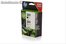 Tinta hp 301 pack negro/color