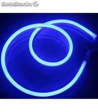 Tira de neon led flexible 24v 20w/m azul