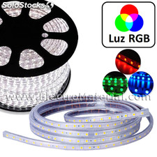 Tira led 220v directa a red tipo smd5050 - ip68 luz rgb
