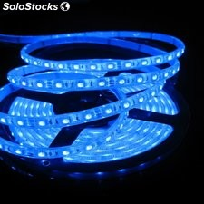 Tira led 5 metros 3528 color azul. No impermeable