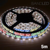 Tira LED Multicolor, flexible y adhesiva, 5 metros con 60 Leds de colores, con 4