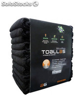 Toallas Microfibra Negras Pack 10 Uds.