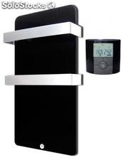 Toallero Haverland cristal negro 400 w, Mod. Xtal6n