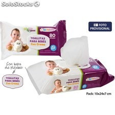 Toallita bebe crema 80UNDS c/tapa formybaby - for my baby - 8050040240074 -