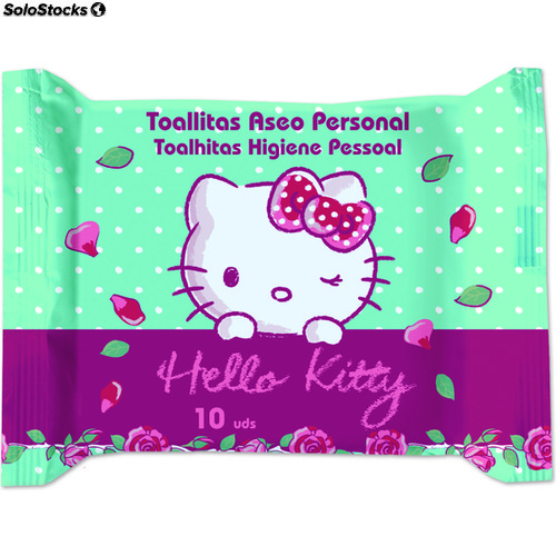 Toallitas aseo personal 10UD hello kitty - brevia - hello kitty - 8410800066298
