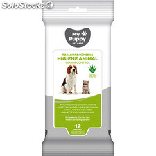 Toallitas húmedas higiene animal aroma fresh 12 uds - my puppy - 8410800068070 -