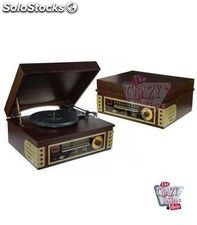 Tocadiscos Retro Madera Radio-CD-USB