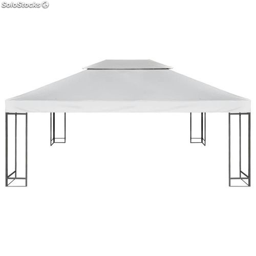 toile de rechange pour gazebo tonelle pergola blanc cr me 270 g m. Black Bedroom Furniture Sets. Home Design Ideas
