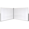 Toldo biombo lateral retráctil 180x600 cm blanco crema
