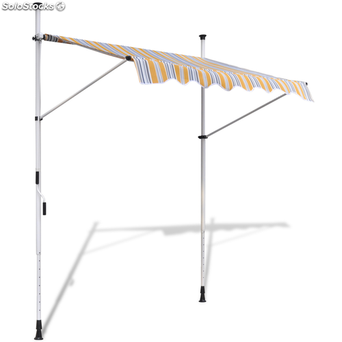 Toldo retr ctil manual color amarillo y az l 150 cm for Toldo retractil precio