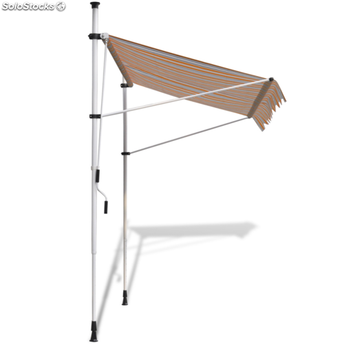 Toldo retr ctil manual color amarillo y az l 400 cm for Toldo retractil precio