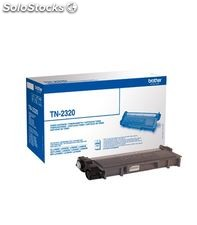 Toner negro laser alta capacidad brother tn-2320