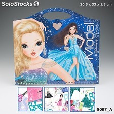 Top model cuaderno para colorear glamour 8494