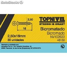 Tornillo R/Mad. 02,5X16Mm Bicromat. Nivel 30 Pz