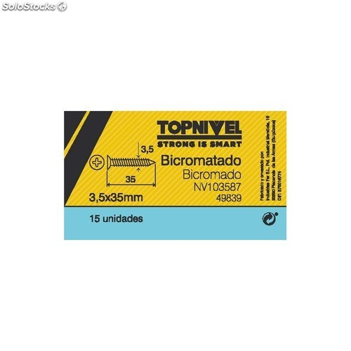 Tornillo R/Mad. 03,50X35Mm Bicromat. Nivel 15 Pz