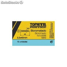 Tornillo R/Mad. 03,50X40Mm Bicromat. Nivel 15 Pz
