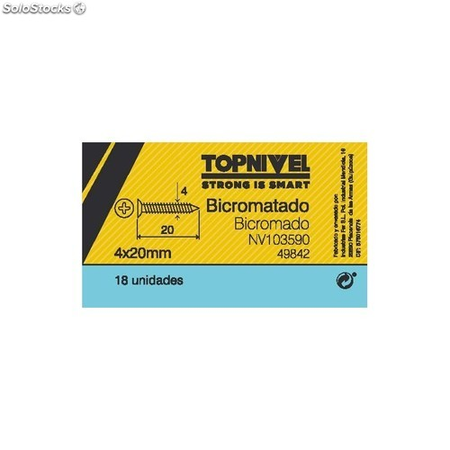 Tornillo R/Mad. 04X20Mm Bicromat. Nivel 18 Pz